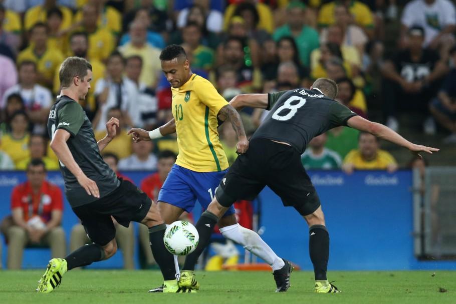 Em 2016, seleção brasileira superou os alemães nos pênaltis e levou o ouro olímpico. Foto: Lucas Figueiredo/CBF