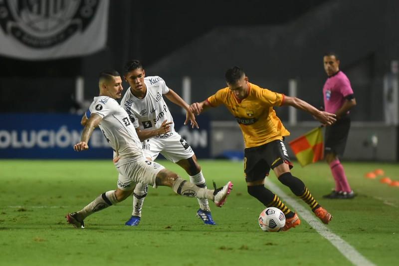 Peixe estreou perdendo por 2 a 0 diante do Barcelona-EQU. Foto: Ivan Storti/Santos FC