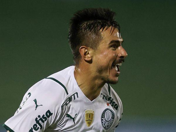 Atacante do Verdão marcou um dos gols na vitória sobre o Guarani. Foto: Cesar Greco