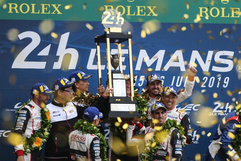 Como é habitual, prova teve reviravolta na parte final. Foto: Toyota Gazoo Racing