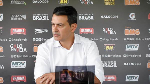 Rui Costa, diretor de futebol do Atlético-MG. Foto: Bruno Cantini/Divulgação/Atlético-MG/Via UOL