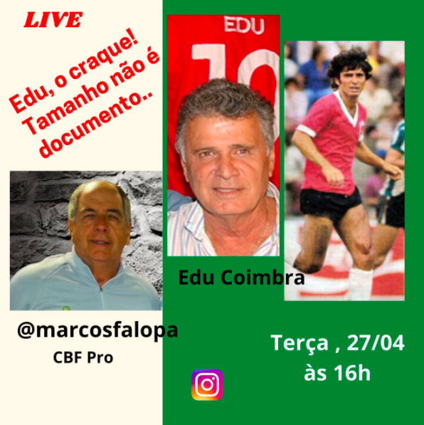 A live estará no Instagram de Marcos Falopa a partir das 16h