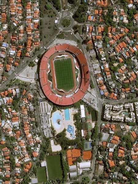 São Paulo aproveita parada da Copa América para promover reformulação. Foto: Pléiades, © Cnes, Distribuição Airbus DS/Via UOL