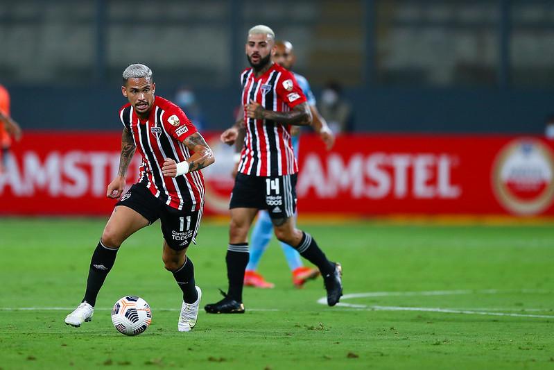 Atacante são-paulino ainda disse que o Tricolor é mais ofensivo em 2021. Foto: Staff Images/Conmebol