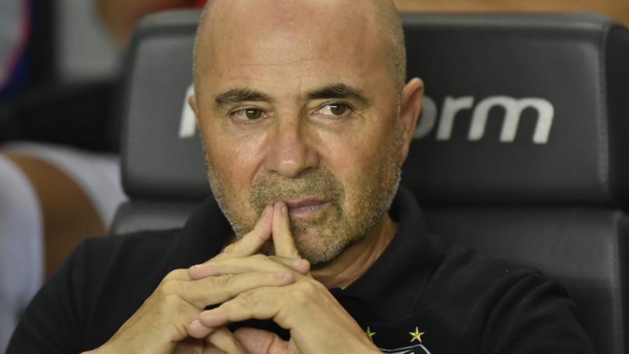 Sampaoli é responsável pelo bom momento do Santos. Foto: Ivan Storti/Santos FC