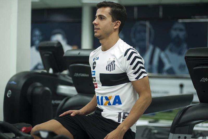Ex-atacante de Inter e Corinthians não joga desde 2017, quando defendeu o Santos. Foto: Ivan Storti/Santos FC