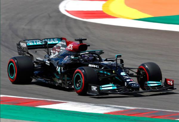 Hamilton comandou o TL2 em Portimão. Foto: Mercedes-AMG Petronas F1