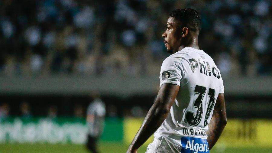 Marinho, do Santos, durante partida contra o Atletico-MG pela Copa do Brasil