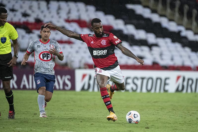 Camisa 8 do Mengão tem contrato até 2023 com o clube carioca. Foto: Alexandre Vidal/Flamengo