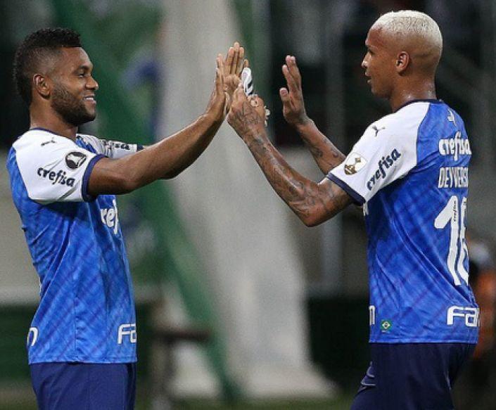 Borja e Deyverson estão emprestados e ainda têm contrato com o Verdão. Foto: Cesar Greco
