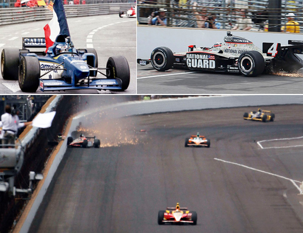 Olivier Panis e JR Hildebrand viveram experiências distintas, por F1 e Indy. Fotos: Divulgação