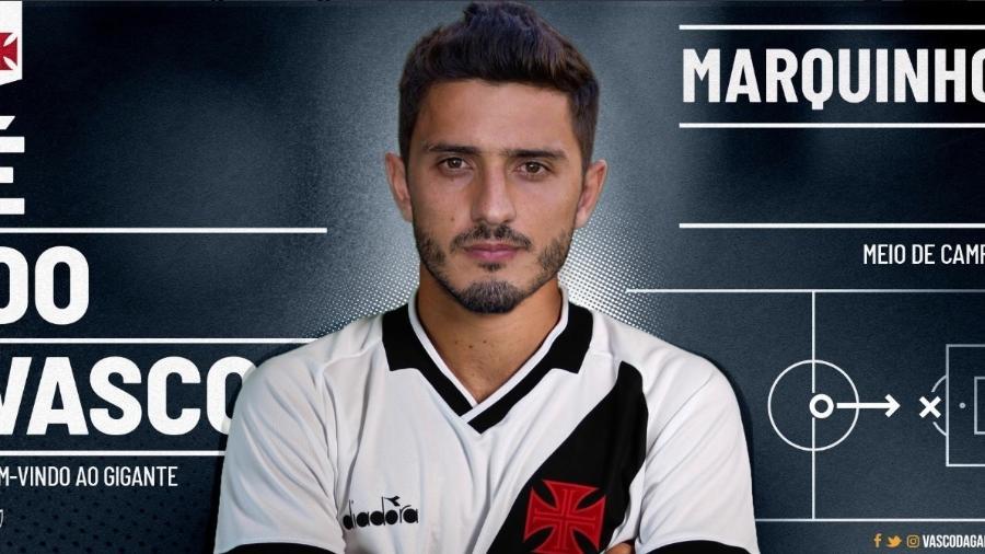 Meia Marquinho, que estava no Athlético-PR, foi anunciado oficialmente pelo Vasco