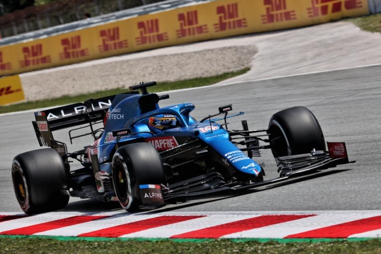 Espanhol foi quinto mais rápido em Montmeló. Foto: Alpine F1 Team