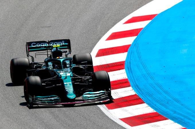 Alemão andou na frente de seu companheiro de equipe. Foto: Aston Martin F1