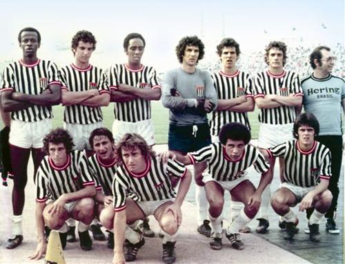 Seleção Paulista de Novos na Coréia em 1976 e 1977
