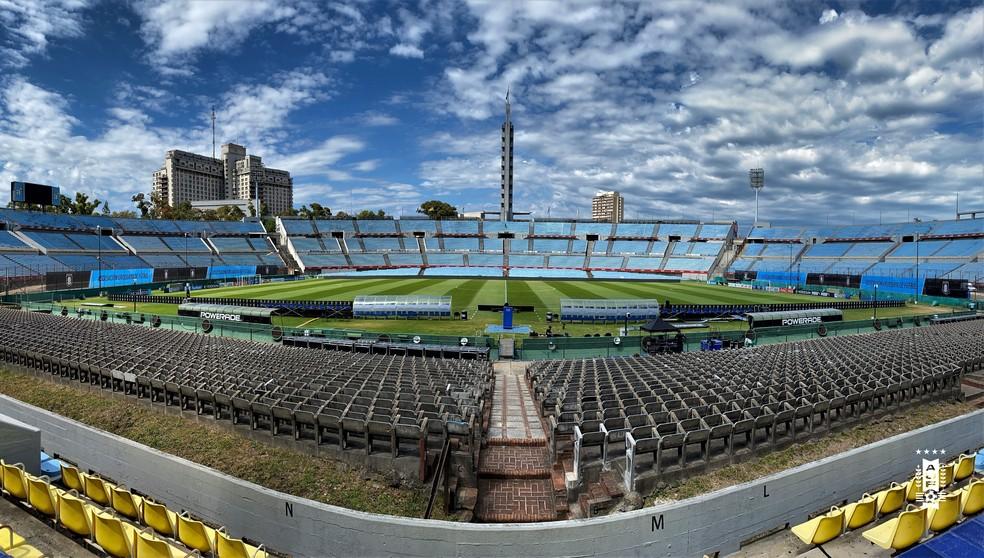 Estádio Centenário, no Uruguai, receberá a decisão da Libertadores e da Sul-Americana. Foto: Twitter/Reprodução