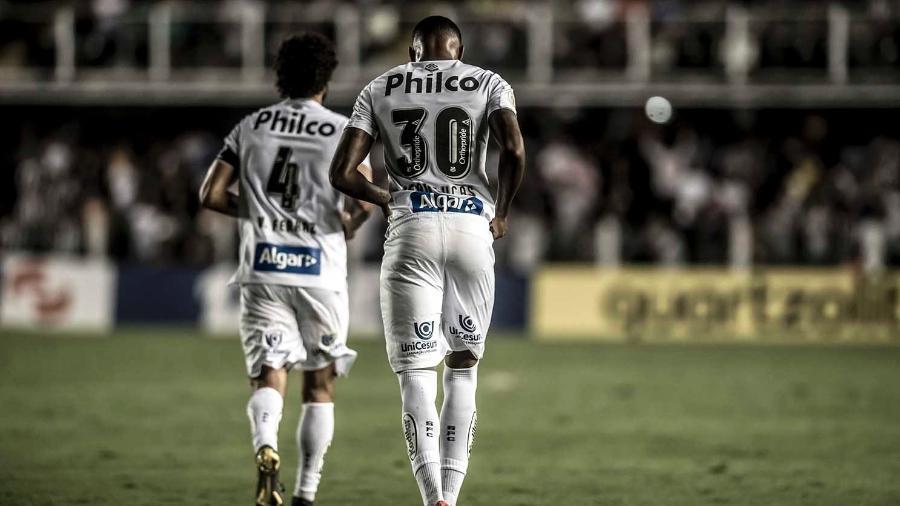 Jean Lucas, volante do Santos emprestado pelo Flamengo