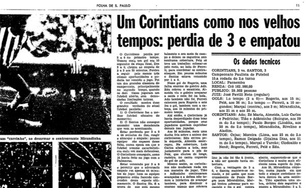 O Corinthians vinha de boas apresentações após a efetivação do ídolo Baltazar como técnico