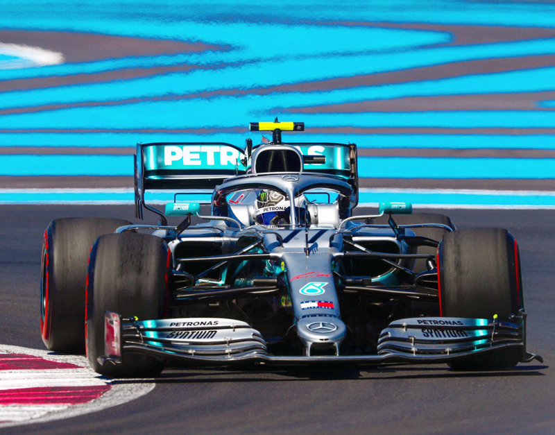 Mercedes foi soberana na sexta-feira no circuito francês. Foto: Mercedes-AMG F1