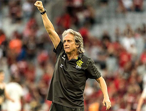 Jorge Jesus comandou o melhor Flamengo do Século XXI. Foto: Alexandre Vidal/Flamengo