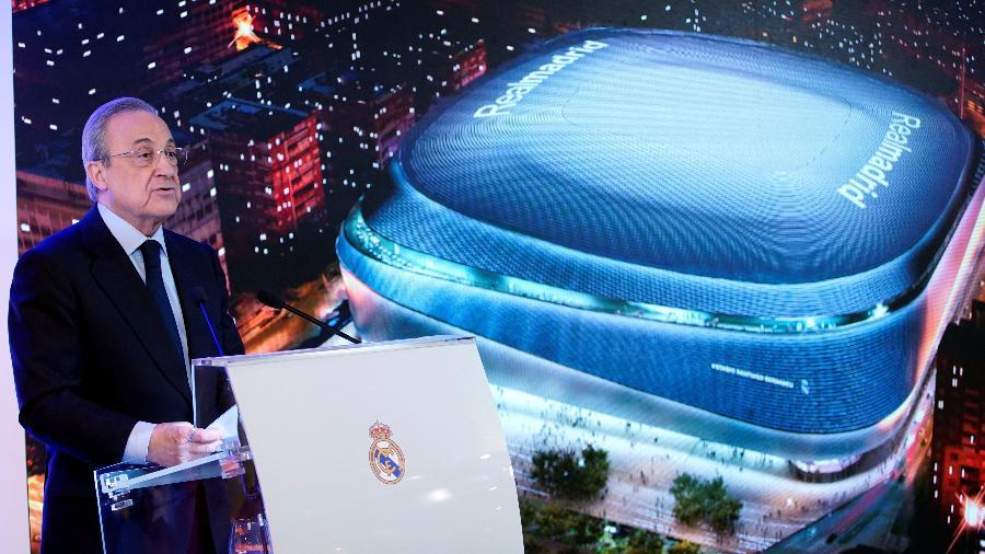 Florentino Perez, presidente do Real Madrid, apresentou projeto. REUTERS/Juan Medina/via UOL