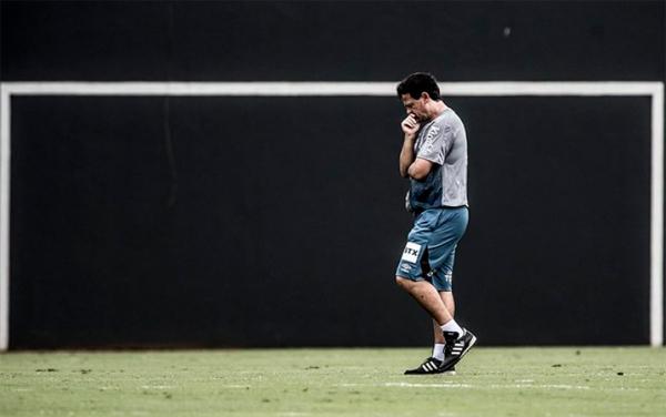 O técnico Fernando Diniz não poderá contar com sua formação ideal. Foto: Divulgação/Santos F.C