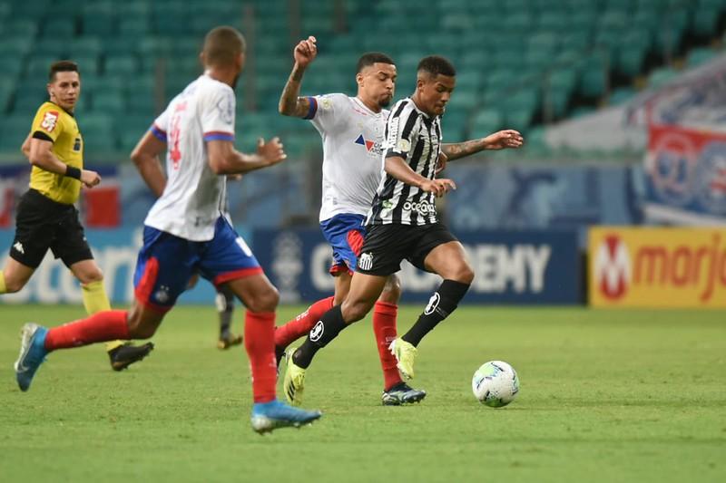 Peixe pode ter a volta de Marinho, recuperado de lesão. Foto: Ivan Storti/Santos FC