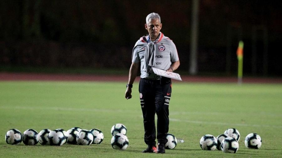 Reinaldo Rueda, técnico da seleção do Chile. Foto: Jeff Crawn