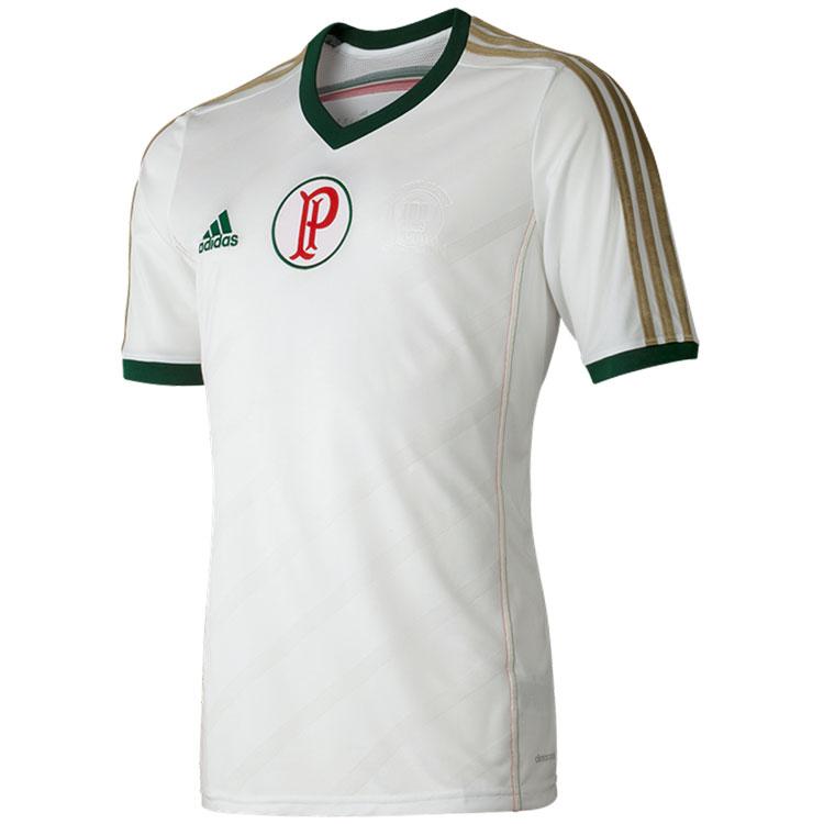 ae2b7b56522d7 O Palmeiras lançou esta camisa branca e dourada para comemorar seu  centenário. Lançou também uma azul. Seriam as duas camisas uma só