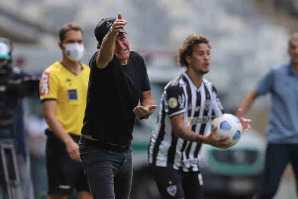 Técnico atleticano amargou derrota por virada no Brasileiro. Foto: Divulgação/Atlético