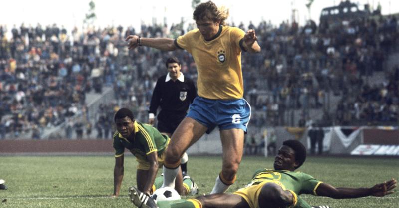 Contra o Zaire, na Copa de 74, disputada na Alemanha
