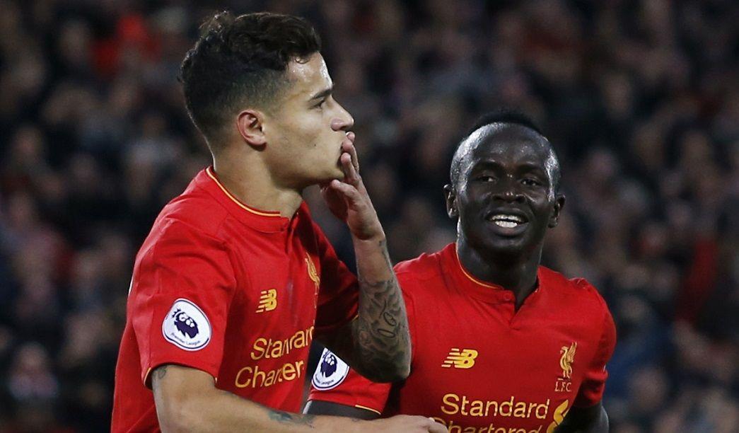 Coutinho marcou o segundo gol do Liverpool