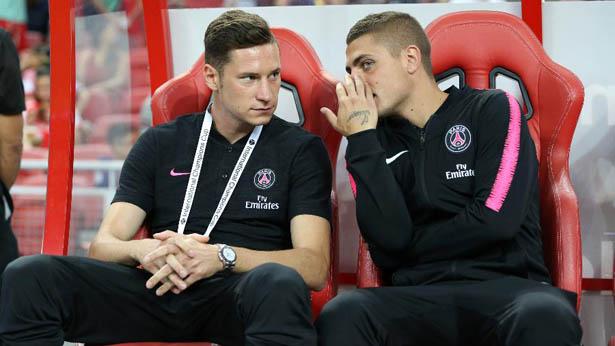 Julian Draxler e Marco Verratti seriam dois dos jogadores que andam abusando das noitadas no PSG. Foto: Lionel Ng/Getty Images/Via UOL