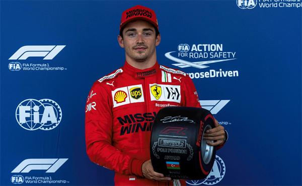 Monegasco larga na frente no GP do Azerbaijão. Foto: Scuderia Ferrari