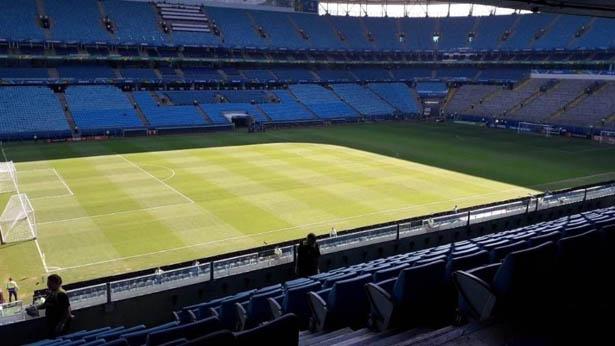 Imagem mostra gramado da Arena um dia depois de Qatar x Argentina. Foto: Reprodução