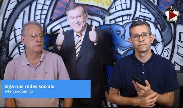 João Antonio e Frank Fortes durante a Live do Terceiro Tempo. Foto: Reprodução