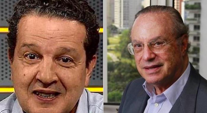 Juca Kfouri, jornalista, e Paulo Maluf, que venceu a eleição de 1992 em São Paulo