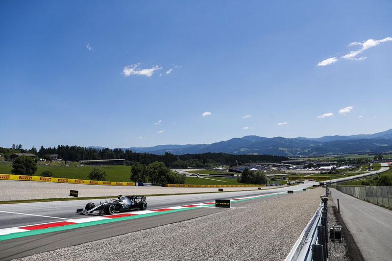 O piloto da Mercedes, líder do campeonato, foi o mais rápido em Spielberg. Foto: Mercedes/AMG F1