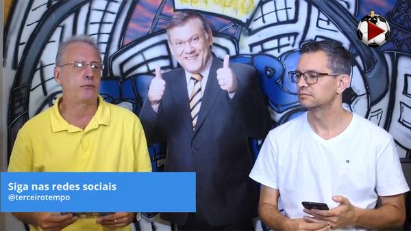 João Antonio e Frank Fortes debateram a classificação da seleção brasileira. Foto: Reprodução