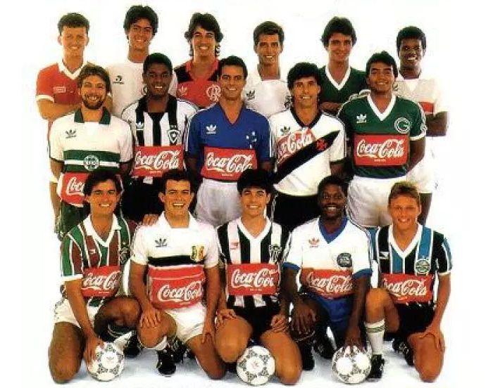 Times ligados ao Clube dos 13 foram patrocinados pela Coca-Cola no Brasileiro de 87. Foto: Reprodução