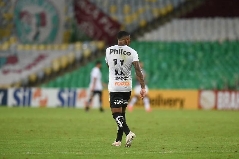 Camisa 11 do Peixe tem se dedicado, mas está longe de seu melhor momento. Foto: Ivan Storti/Santos FC