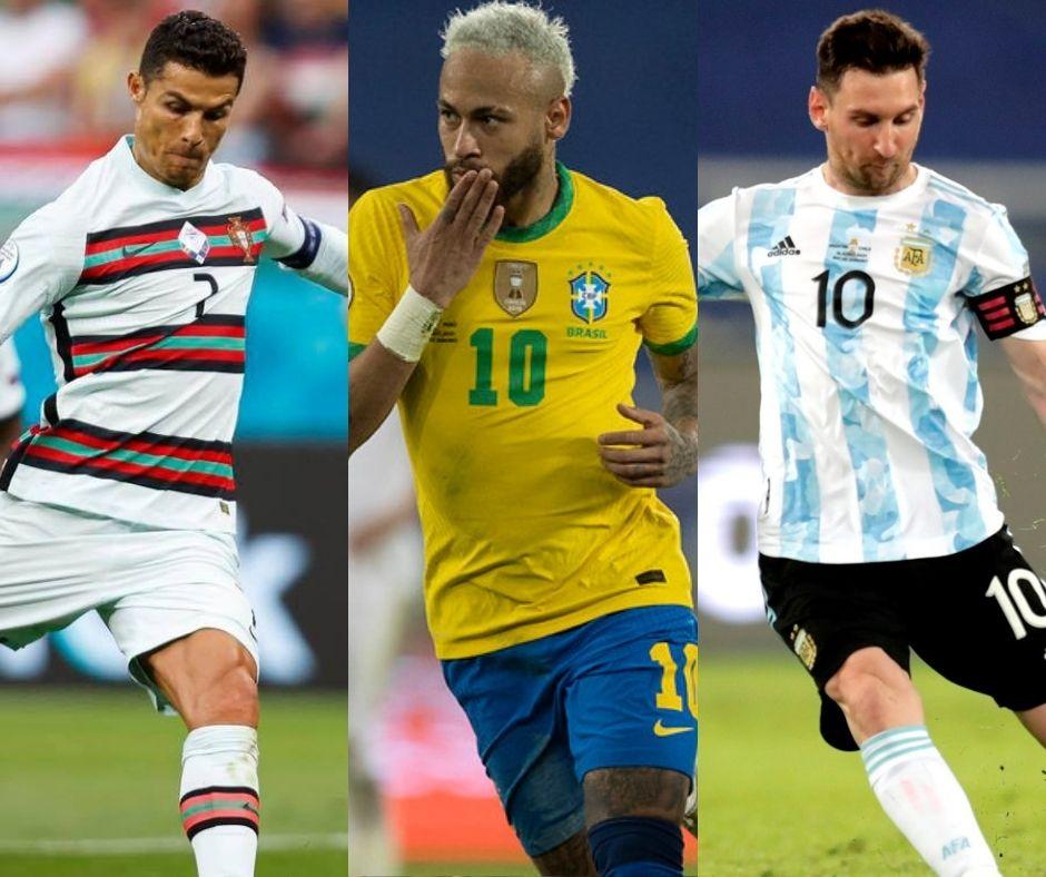 Craques do futebol mundial sonham com o título mundial com suas seleções