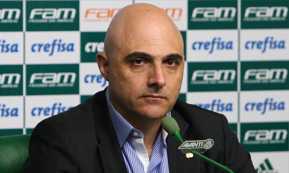 Presidente do Verdão destacou que o clube teve queda de receitas com a pandemia. Foto: Cesar Greco