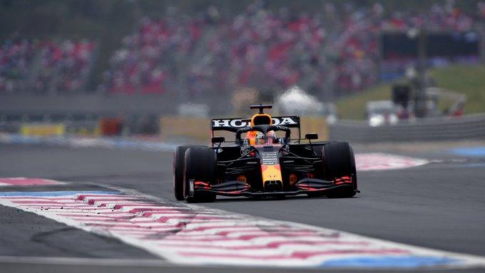 Holandês adotou estratégia diferente do britânico na França. Foto: Red Bull Racing Honda