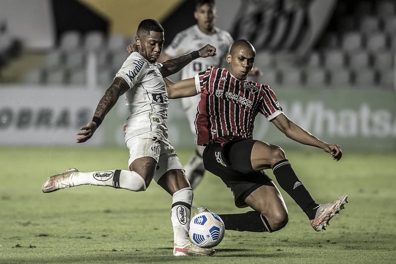 Marinho voltou a jogar bem e o Peixe dá sinais de uma clara evolução com Diniz. Foto: Ivan Storti/Santos FC