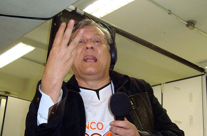 Jornalista participou da transmissão da Rádio Bandeirantes no Pacaembu. Foto: Marcos Júnior Micheletti/Portal TT