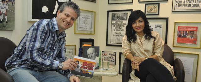 Ela esteve no Bella Macchina, apresentado por Marcos Júnior, editor de automobilismo do Portal Terceiro Tempo