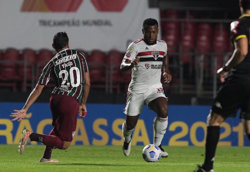 Volante Tricolor ficou fora dos últimos sete jogos da equipe. Foto: Rubens Chiri/saopaulofc.net