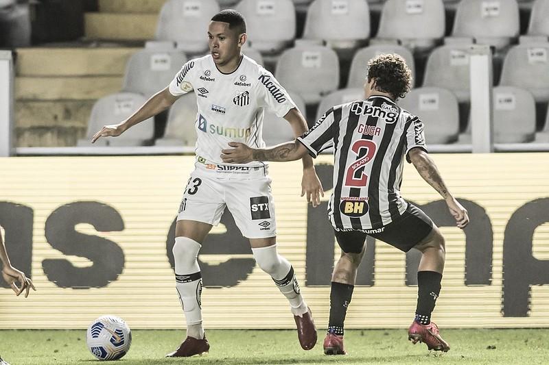 Marcos Guilherme chegou ao Peixe sob desconfiança e vem se destacando. Foto: Ivan Storti/Santos FC