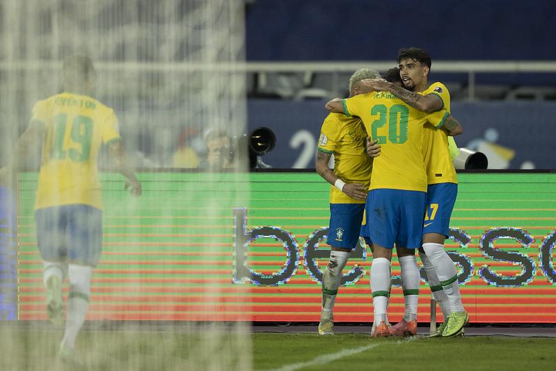 Seleção brasileira chega com a melhor campanha da primeira fase. Foto: Lucas Figueiredo/CBF